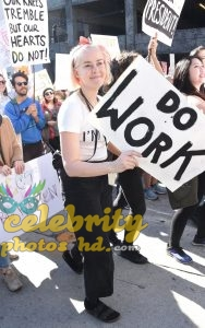JENA MALONE at 2018 Women's March in Los Angeles (4)