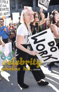 JENA MALONE at 2018 Women's March in Los Angeles (5)