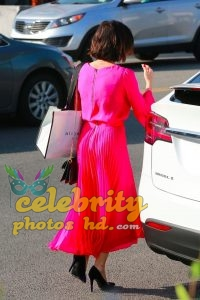 JENNA DEWAN in Red Dress Out in Beverly Hills (4)