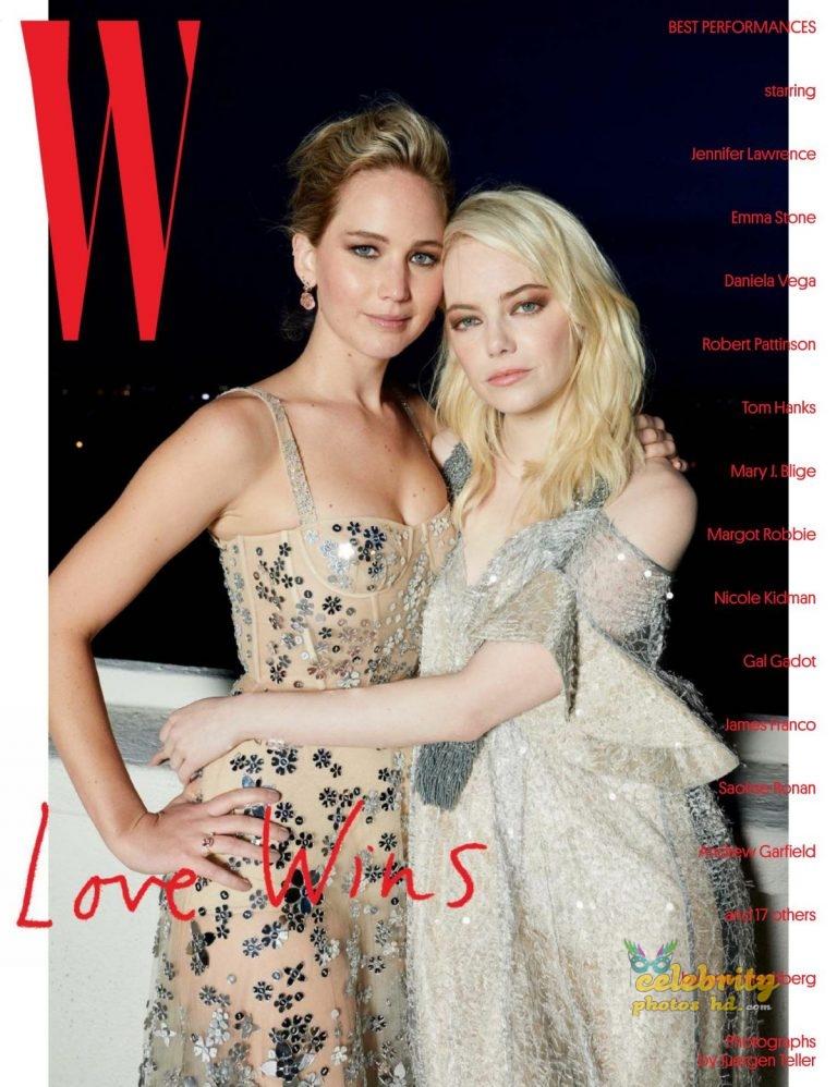 JENNIFER LAWRENCE and EMMA STONE for W Magazine photo's (1)