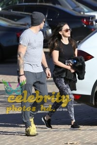 MEGAN FOX and Brian Austin Green Arrives at Malibu Country Mart (1)