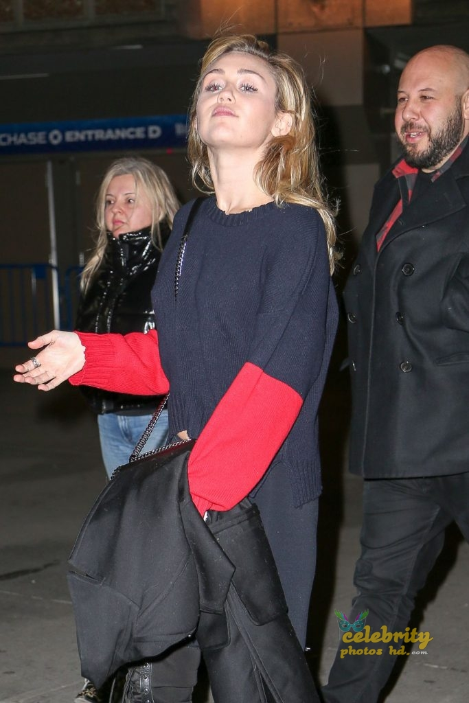 MILEY CYRUS Leaves Madison Square Garden in New York (1)