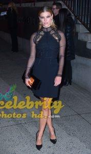 NINA AGDAL Arrives at Tom Ford Fashion Show at New York Fashion Week (3)