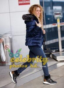 SHAKIRA at JFK Airport in New York (4)